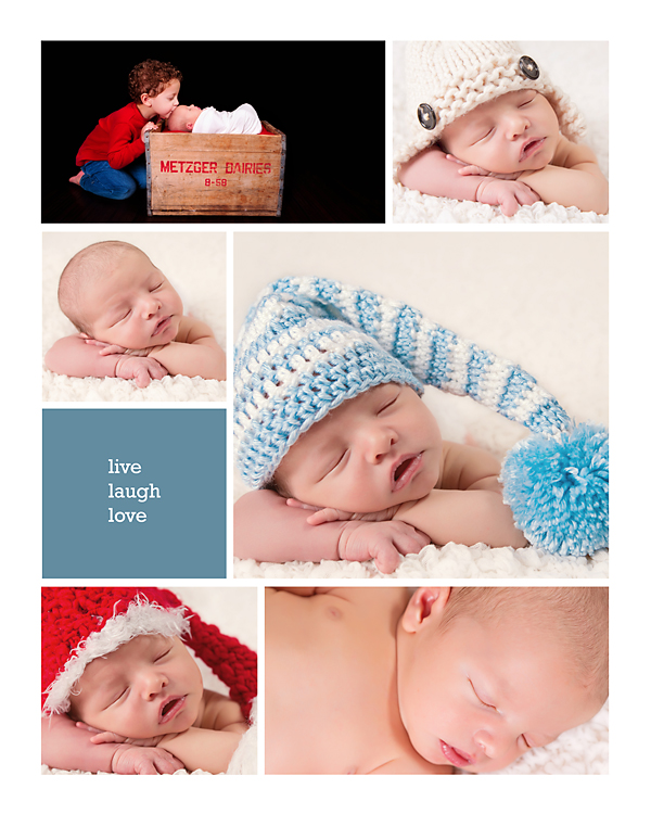 Newborn Milk Crate Collage Christy Persichini Photography