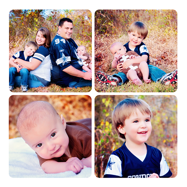 Cowboys Family Collage Christy Persichini Photography