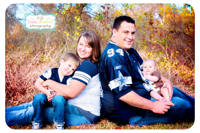 Cowboys Football Family Christy Persichini Photography
