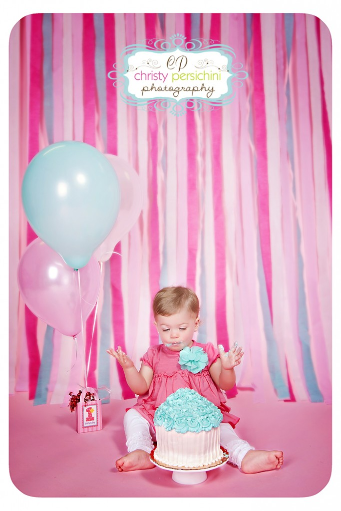 Cake Smash Balloons Christy Persichini Photography