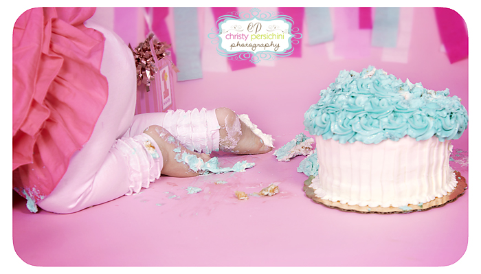 Cake Smash Feet Christy Persichini Photography