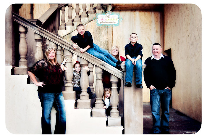 Family Stairs Christy Persichini Photography