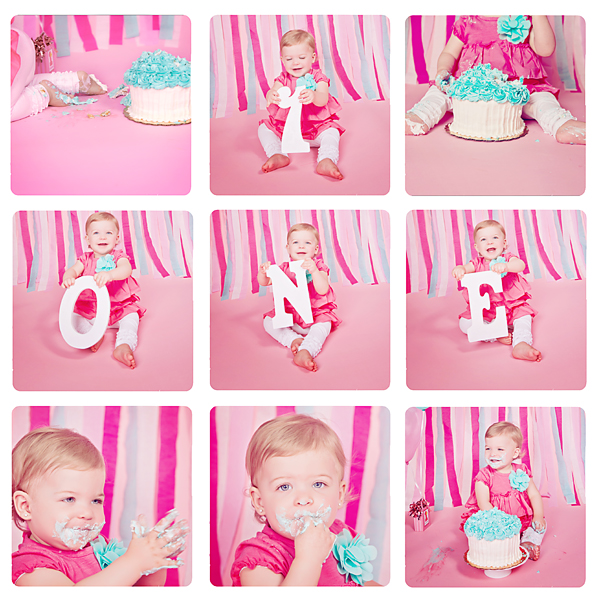 Cake Smash Collage Christy Persichini Photography