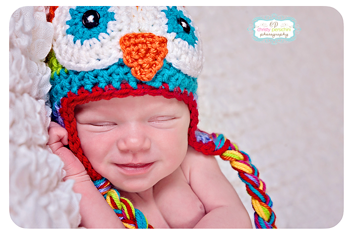 Owl Hat Newborn Christy Persichini Photography