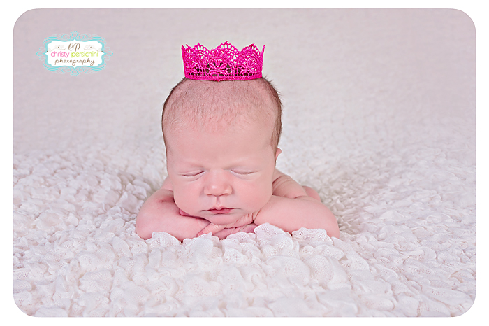 Princess Crown Newborn Christy Persichini Photography