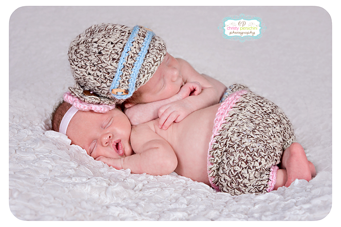 Boy Girl Twin Newborn Christy Persichini Photography