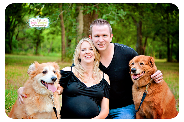 Maternity Outdoor Dogs photo Christy Persichini Photography