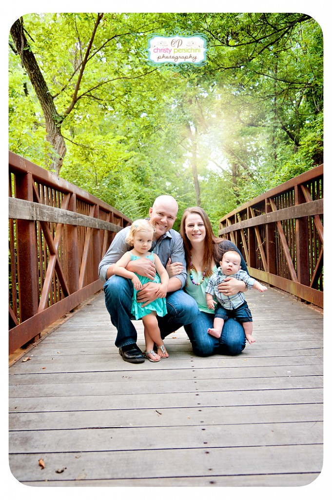 Outdoor Family Bridge Denton Christy Persichini Photography